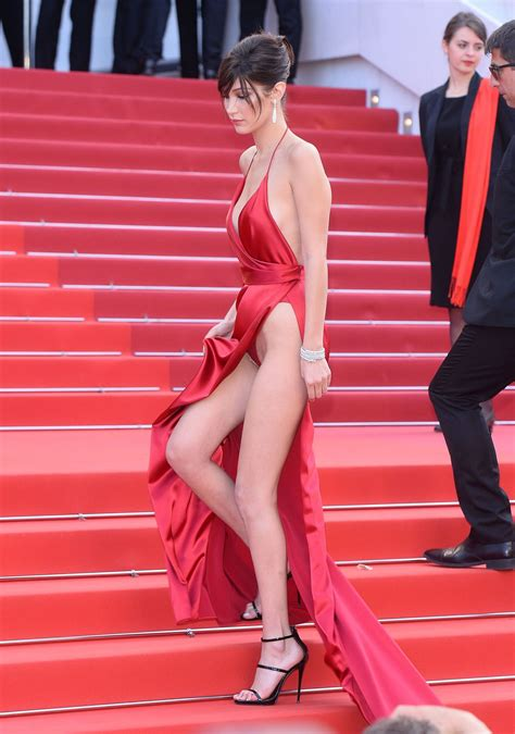 Model Bella Hadid flashed her underwear in Cannes