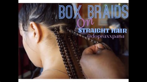 How to Do Box Braids on Straight Hair - YouTube