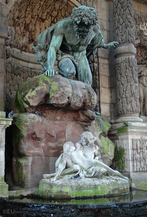 Photos of Polyphemus, Acis and Galatea statues in