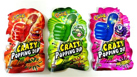 Lollipop Cool Crazy Popping Dip Strawberry Green Apple