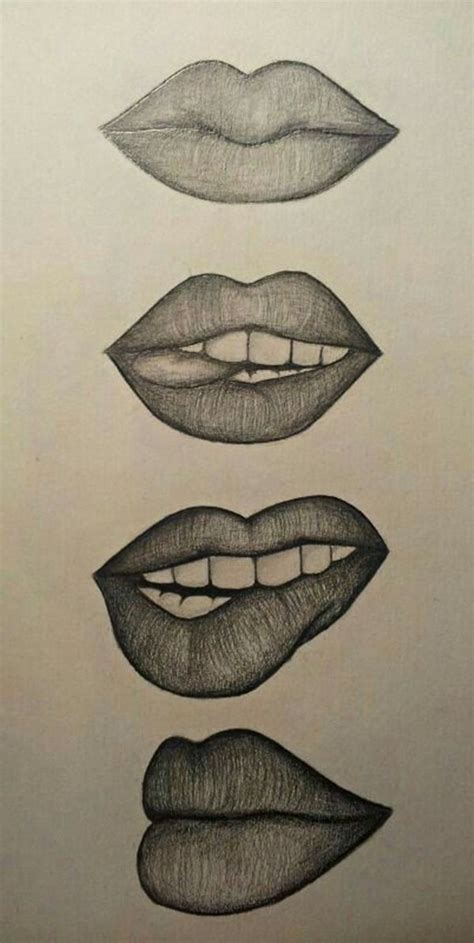 cool-and-easy-things-to-draw-when-bored | Lips drawing