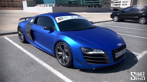 Audi R8 GT Satin Chrome Blue - Onboard Ride and Sounds