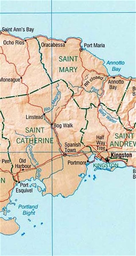 Jamaica Maps Including Outline and Topographical Maps